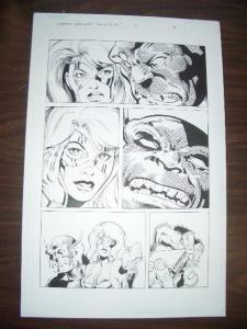 COMMON GROUNDS #3 PG 9--ORIGINAL COMIC ART--DAN JURGENS FN
