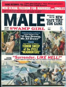 Male Magazine May 1969- Swamp Girl- Sexual Freedom- Surrender Like Hell