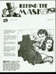 BEHIND THE MASK 1993 #19-PULP FANZINE-THE SPIDER FN