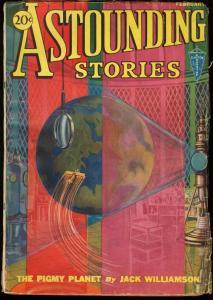 ASTOUNDING STORIES 1932 FEB-CLAYTON SCI-FI PULP VG