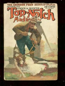 TOP-NOTCH OCT 1 1912 STREET AND SMITH PULP BOXING STORY VG