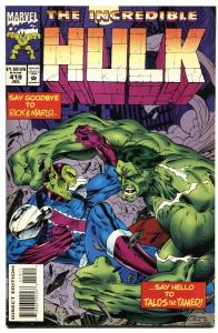 Incredible Hulk #419 1st TALOS cover-Marvel comic VF/NM