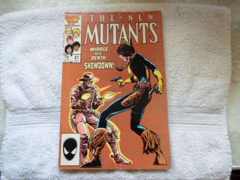 1986 MARVEL COMICS THE NEW MUTANTS # 41