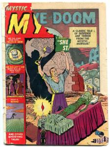 MYSTIC #6-1952-ATLAS-EYE OF DOOM-BASIL WOLVERTON-PRE-CODE HORROR ART-poor