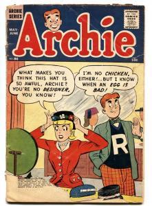 ARCHIE COMICS #86 BETTY & VERONICA comic book 1957 G