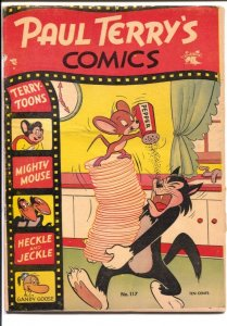 Paul Terry's Comics #117 1954-Mighty Mouse-Heckle & Jeckle-Gandy Goose-VG