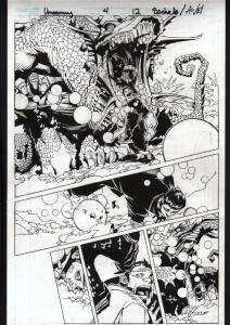 UNCANNY X-MEN #4-ORIGINAL ART-PG 12-CHRIS BACHALO-MARVEL