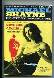 MICHAEL SHAYNE MYSTERY-#1-SEPT 1956-PULP--SOUTHERN STATES PEDIGREE-vf minus