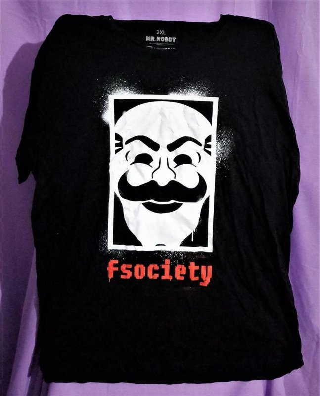 Loot Crate Exclusive MR ROBOT fsociety T-Shirt (2XL)!