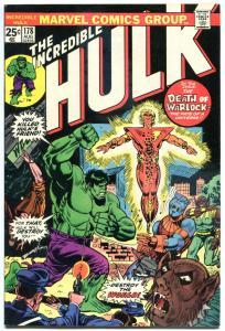 HULK #178, VF, Death of Warlock, Marvel, 1968, Incredible, more in store
