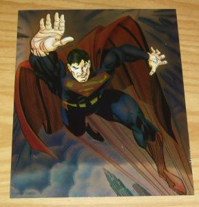 Superman chromium pin-up 8 x 9.75 jon bogdanove art - dc comics 1993 chromart