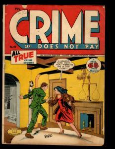 Crime Does Not Pay # 45 VG Lev Gleason Golden Age Comic Book Biro Cover Art NE1