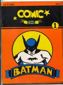 Comic Zine #1 1971- Batman serials- fandom rare fanzine