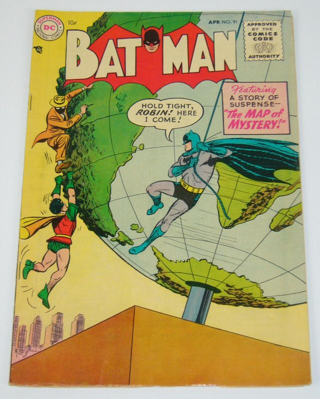 Batman #91 VG/FN april 1955 - golden age dc comics - robin ...