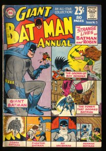 Batman Annual #5 VG- 3.5