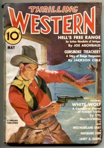 Thrilling Western Pulp May 1937- WHITE WOLF- VF