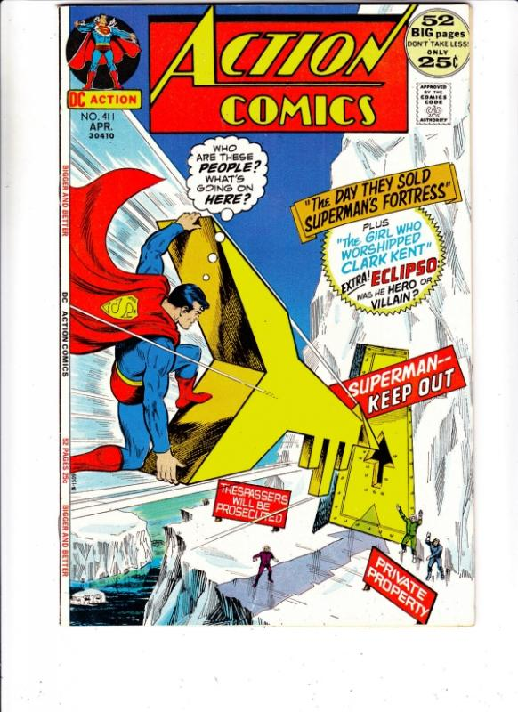 Action Comics #411 (Apr-72) NM- High-Grade Superman