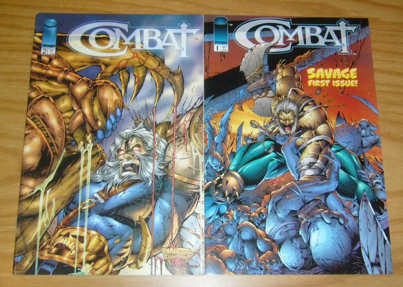 Combat #1-2 VF/NM complete series - youngblood spin-off - image comics set lot