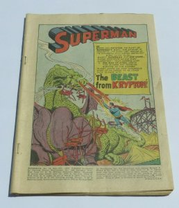 Superman #78 Coverless 1952 DC Golden Age Comic The Book Beast From Krypton