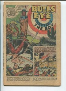 BULLS EYE #1 1954-FIRST ISSUE-ORIGIN-SIMON & KIRBY ART--fr