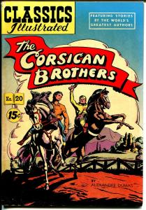Classics Illustrated #20 HRN 97 1945-Gilberton-Corsican Brothers-Dumas-FN/VF