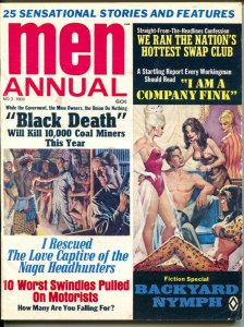 Men Annual #3 1969-Atlas-early Pussycat-Bill Ward-cheesecake-pulp thrills-VG+