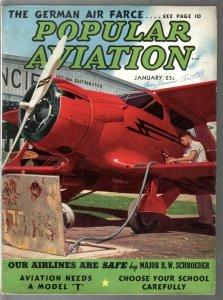Popular Aviation 1/1939-Arch Whitehouse-German Air Farce-Beechcraft-VG
