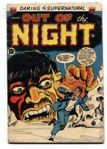 OUT OF THE NIGHT #16-LANDAU ART-PRE CODE-VAMPIRE STORY - VG