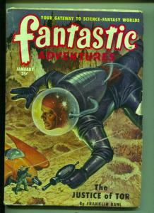 Fantastic Adventures-Pulp-1/1951-Franklin Bohl-Gilbert Grant-John W. Jakes