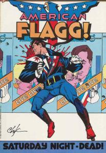 American Flagg #25 FN; First | save on shipping - details inside