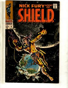 Nick Fury Agent Of Shield # 6 VF/NM Marvel Comic Book Avengers Steranko Cov JF23