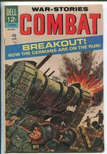COMBAT #13 1964-DELL-BREAKOUT AT ST LO-SAM GLANZMAN-WWII-HISTORIC-vg