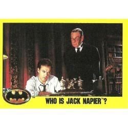 1989 Batman The Movie Series 2 Topps WHO IS JACK NAPIER? #213