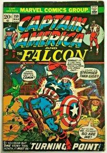 CAPTAIN AMERICA#159 VG 1973 MARVEL BRONZE AGE COMICS