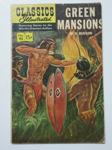 Classics Illustrated- 90 Green Mansions by WH Hudson HRN 167 April 1964 4th Ed