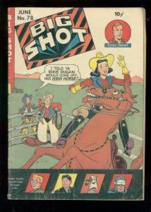 BIG SHOT COMICS #78 1947-HITLER-SKYMAN-BOODY ROGERS ART VG