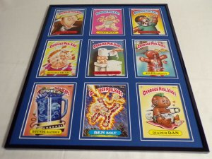 Garbage Pail Kids Framed 16x20 Display Ben Bolt Diaper Dan Jules Drools