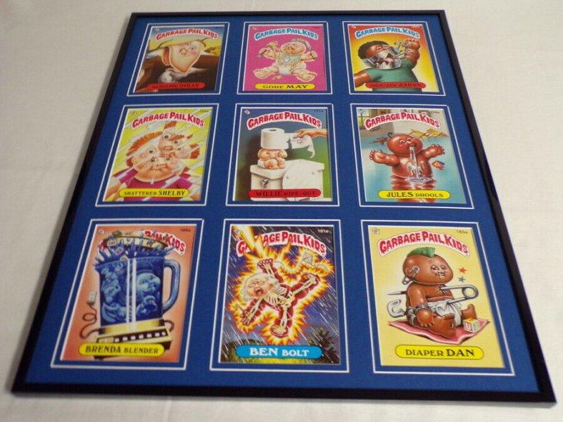 Garbage Pail Kids Framed 16x20 Display Ben Bolt Diaper Dan Jules Drools