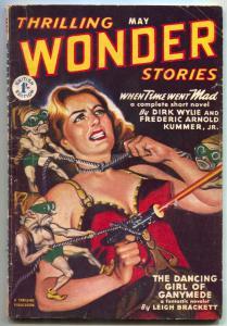 Thrilling Wonder Stories Pulp May 1952- British edition- VG