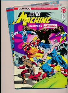 Comico Lot of 3 Comics Justice Machine #1, #2, #4  VERY FINE (HX868)