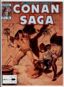 CONAN SAGA #14, NM, John Buscema, 1987, Robert Howard, more in store