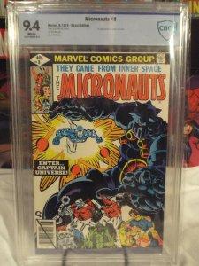 Micronauts #8 - CBCS 9.4 - NM - White Pages - 1st Appearance of Captain Universe