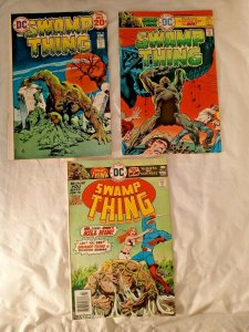 Swamp Thing 1974-1976 Series Issues #13 19 23 DC Lot of 3 Comic Book FN-
