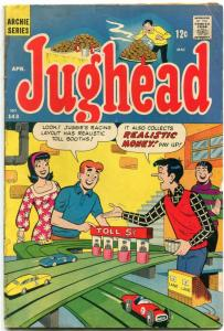 Jughead #143 1967- great slot car cover- Archie POOR