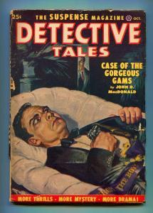 DETECTIVE TALES OCTOBER 1951-POPULAR PUBLISHING-JOHN D MACDONALD-VG-