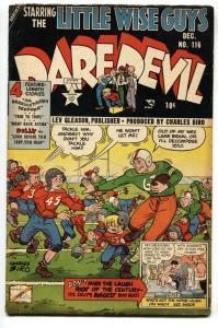 Daredevil #116 1954-Football cover- Charles Biro- Little Wise Guys vg+