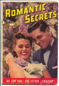 Romantic Secrets #24 1951-Fawcett-photo cover-George Evans art-spicy pix-G/VG