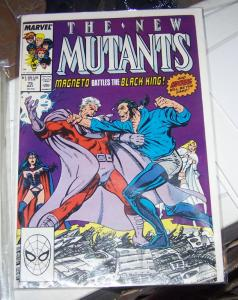 NEW MUTANTS  # 75 1  may 1989MAGNETO VS BLACK KING