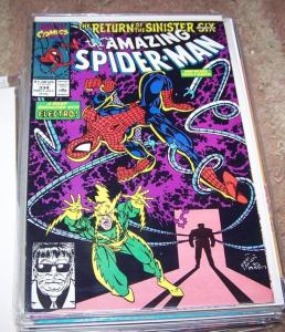 Amazing Spider-Man # 334   Marvel return  sinister six  pt 1 ELECTRO-