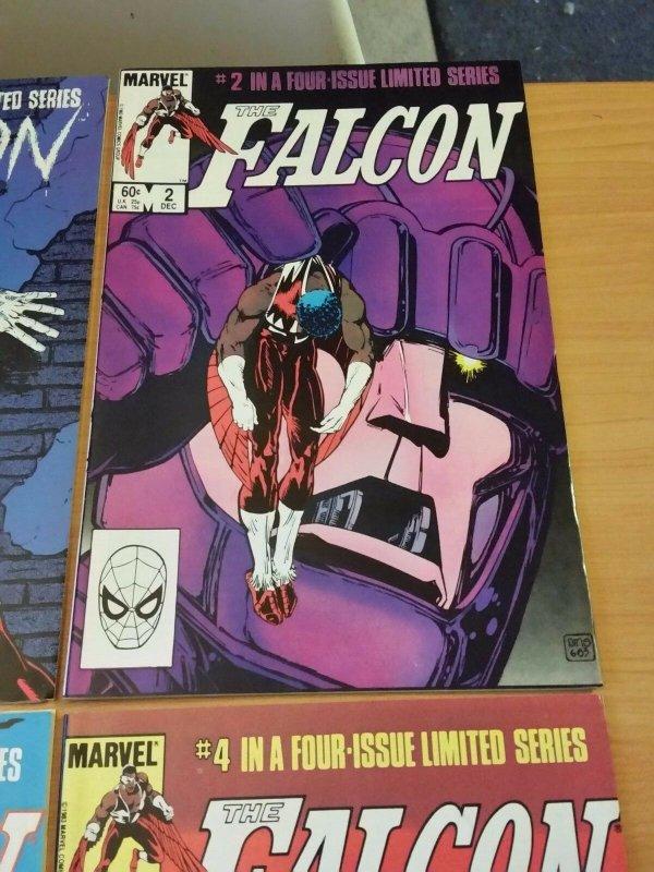 The Falcon 1-4 Complete Set Run! ~ NEAR MINT NM ~ 1983 MARVEL COMICS